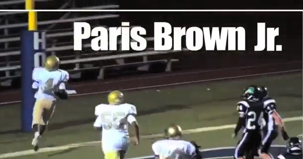 Paris Brown Jr. | Class of 2019 Football Highlight reel