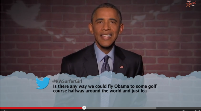 President Obama Edition of Mean Tweets