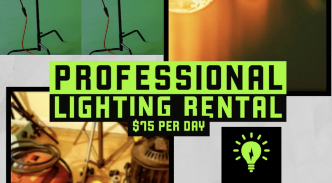Professional Lighting Rental Available for Booking
